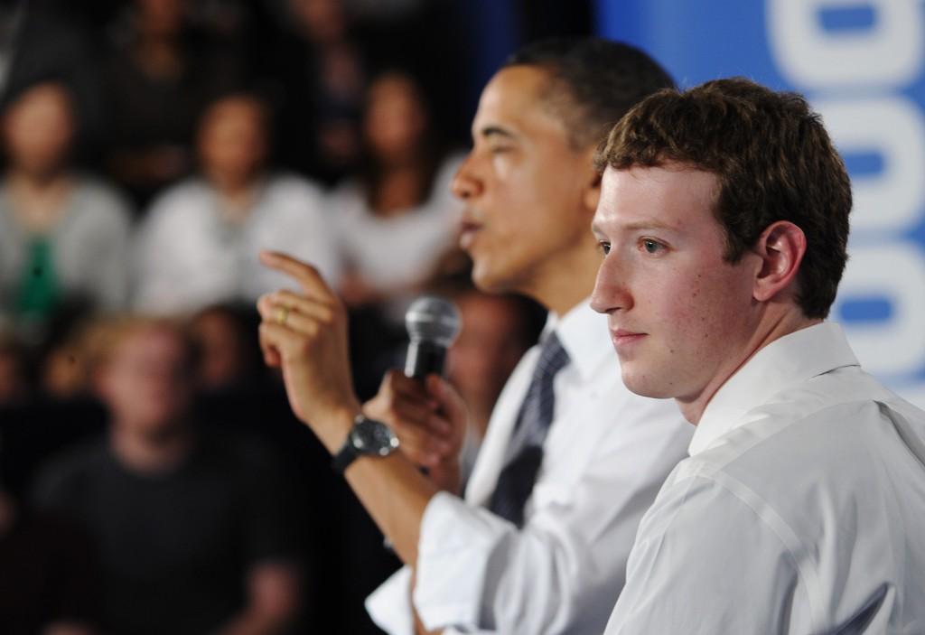 Mark Zuckerberg with Obama