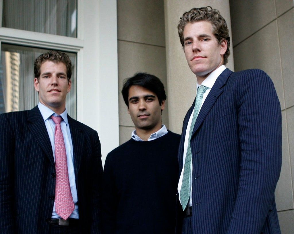 Cameron and Tyler Winklevossas and Divya Narendra